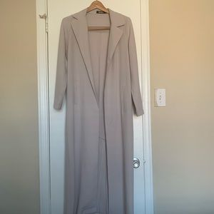 Miss Guided long gray blazer